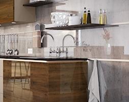 RAUVISIO CRYSTAL DECOR - Kuchnia jednorzędowa w aneksie, styl nowoczesny - zdjęcie od REHAU