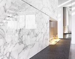 RAUVISIO CRYSTAL DECOR - Średni biały hol / przedpokój, styl minimalistyczny - zdjęcie od REHAU