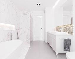 J2 - Duża biała łazienka w bloku w domu jednorodzinnym z oknem, styl klasyczny - zdjęcie od STUDIO CIESIELSKA