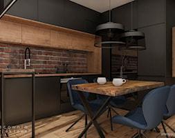 Mieszkanie w stylu nowoczesnym 2 - Mała otwarta wąska kuchnia w kształcie litery g w aneksie, styl nowoczesny - zdjęcie od Pracownia Projektowa Wojciech Zieliński