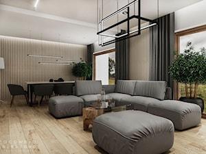 Projekt wnętrza nowoczesnego domu jednorodzinnego