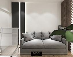 MIESZKANIE 60M – FORT BEMA - Małe białe biuro domowe, styl nowoczesny - zdjęcie od MAAI Design