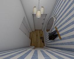 Mieszkanie w stylu prowansalskim - Mały biały niebieski hol / przedpokój, styl prowansalski - zdjęcie od P.S.-projekt