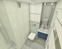 Malutka łazienka - Mała beżowa łazienka na poddaszu w bloku w domu jednorodzinnym bez okna, styl nowoczesny - zdjęcie od P.S.-projekt