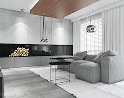 bm house - Mały szary czarny salon, styl nowoczesny - zdjęcie od Mymolo Patrycja Dąbek