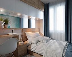 Mała szara sypialnia, styl minimalistyczny - zdjęcie od UrbanForm