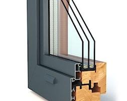 Okna drewniano-aluminiowe - Nowoczesne domy, styl nowoczesny - zdjęcie od Witraż Sp. z o. o. Okna i Drzwi - Homebook