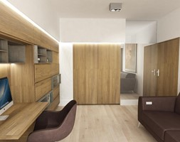 Wnętrza domu na Jurze - Średnie białe biuro domowe kącik do pracy w pokoju, styl nowoczesny - zdjęcie od BAK Architekci - Homebook