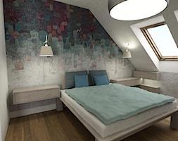Wnętrza domu na Jurze - Średnia biała sypialnia małżeńska na poddaszu, styl nowoczesny - zdjęcie od BAK Architekci - Homebook