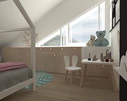 pokój dziewczynki - Mały biały czarny pokój dziecka dla dziewczynki dla ucznia dla malucha - zdjęcie od totamstudio