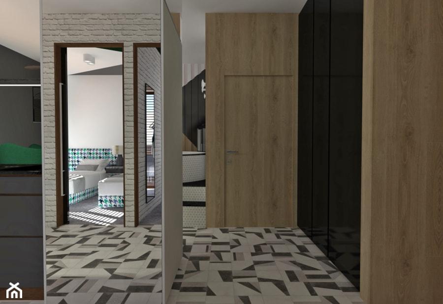 mieszkanie na wynajem krótkoterminowy//2 - Średni czarny szary hol / przedpokój - zdjęcie od totamstudio