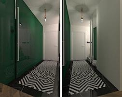 mieszkanie//89m//dąbrowa górnicza - Średni biały zielony hol / przedpokój - zdjęcie od totamstudio