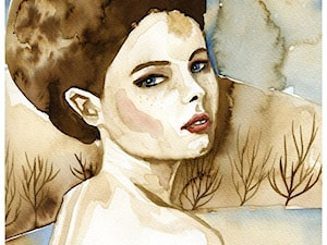 akwarele portret kobiecy