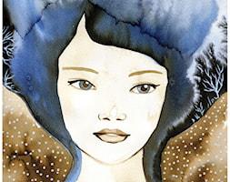 akwarele portret kobiecy - Salon, styl tradycyjny - zdjęcie od bruniewska.com - Homebook