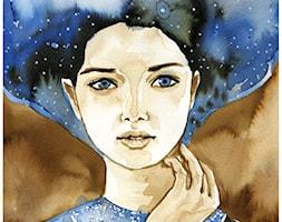 akwarele portret kobiecy - Sypialnia, styl vintage - zdjęcie od bruniewska.com - Homebook