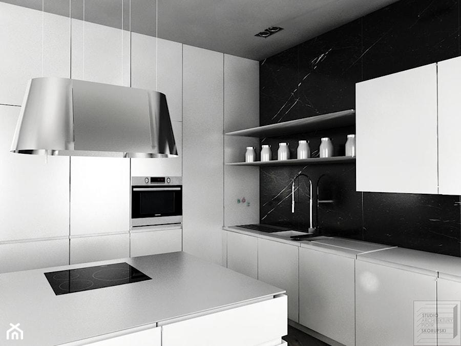Czarno biała kuchnia  zdjęcie od Piotr Skorupski Studio