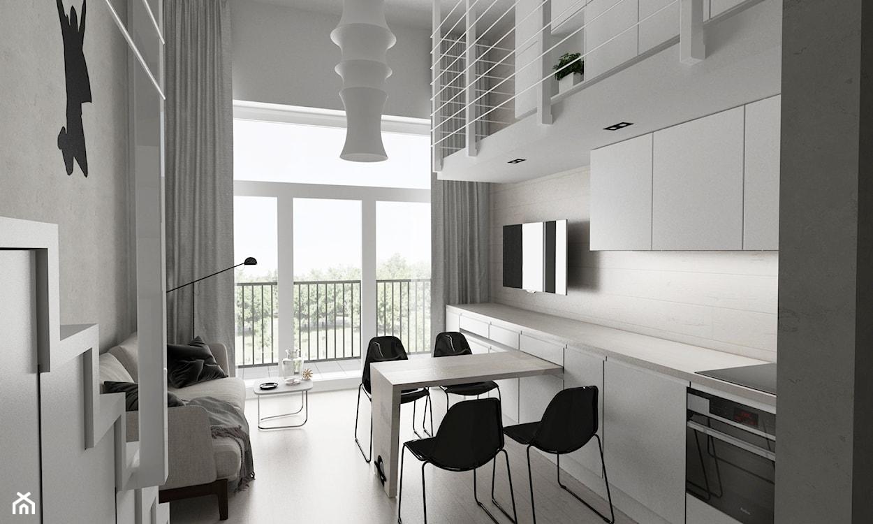 mikromieszkanie w stylu industrialnym