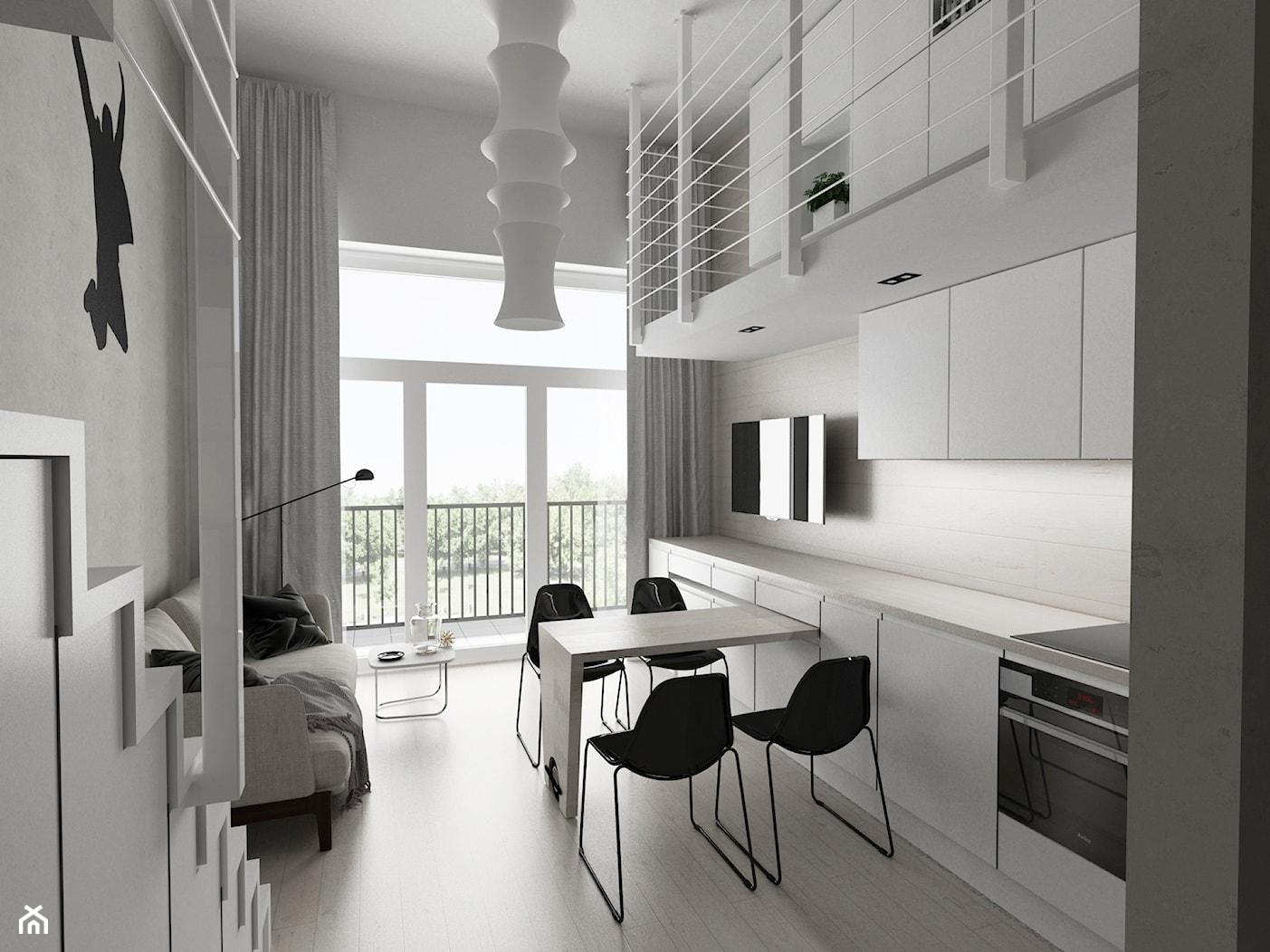 Loft z antresolą - zdjęcie od Piotr Skorupski Studio Architektury - Homebook