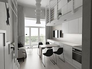 Mieszkanie 25 m² – minimalistyczny loft z grafiką