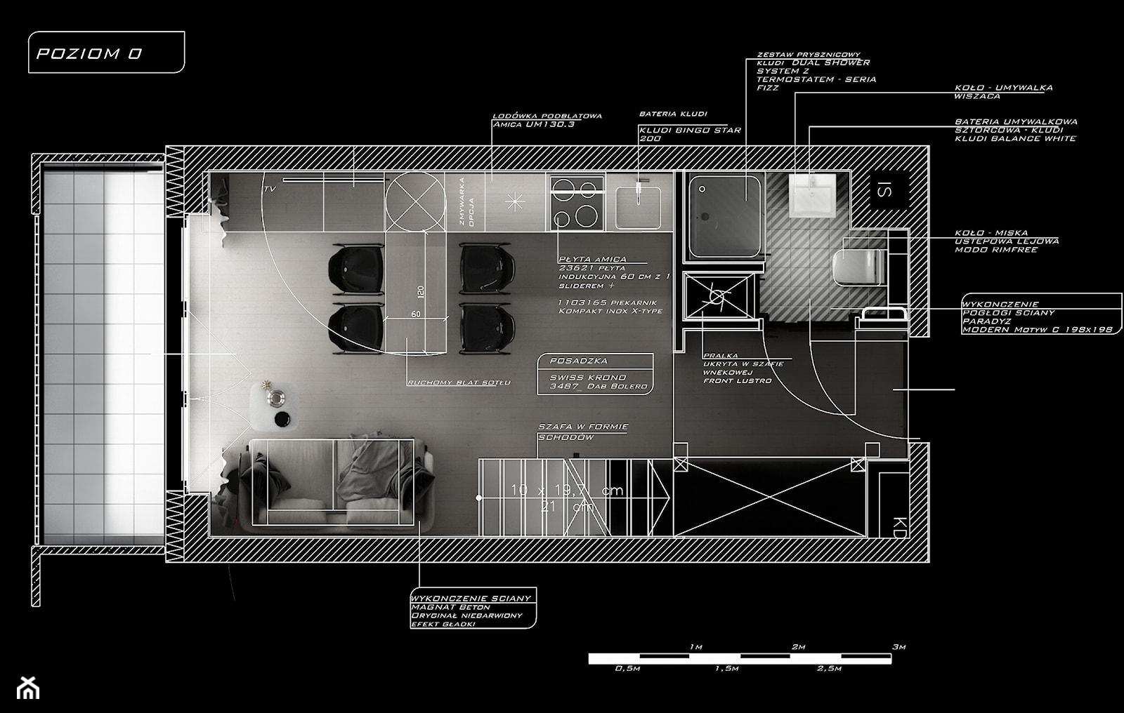 Rzut - poziom 0 - zdjęcie od Piotr Skorupski Studio Architektury - Homebook