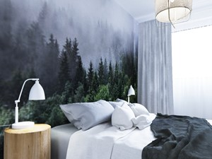 Wrocław - okolice Trzebnickiej - Średnia biała sypialnia małżeńska na poddaszu, styl skandynawski - zdjęcie od Aneta Talarczyk Pracownia Projektowa