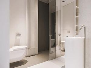 I37.16 | Wilanów, Warszawa PL - Średnia szara łazienka w bloku w domu jednorodzinnym bez okna, styl minimalistyczny - zdjęcie od DEKAA Architects