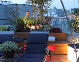 Taras z nutką orientu - Średni taras na dachu, styl nowojorski - zdjęcie od GREENERIA