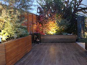 Taras z nutką orientu - Średni ogród za domem, styl kolonialny - zdjęcie od GREENERIA