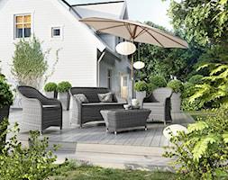 Mały taras z przodu domu z tyłu domu - zdjęcie od Garden Space