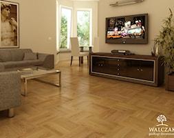 Salon+z+parkietem+d%C4%99bowym+-+zdj%C4%99cie+od+WALCZAK+-+pod%C5%82ogi+drewniane