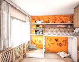 The clockwork orange - Mały szary pomarańczowy pokój dziecka dla chłopca dla dziewczynki dla malucha dla nastolatka, styl nowoczesny - zdjęcie od 1mm. studio