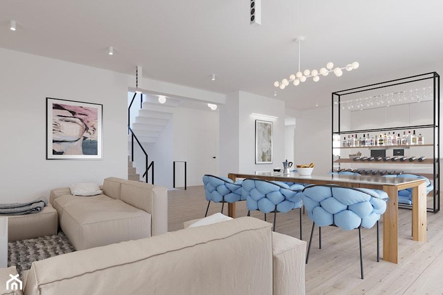 Aranżacja domu w Bielsku-Białej - Salon, styl nowoczesny - zdjęcie od dbg DESIGNS