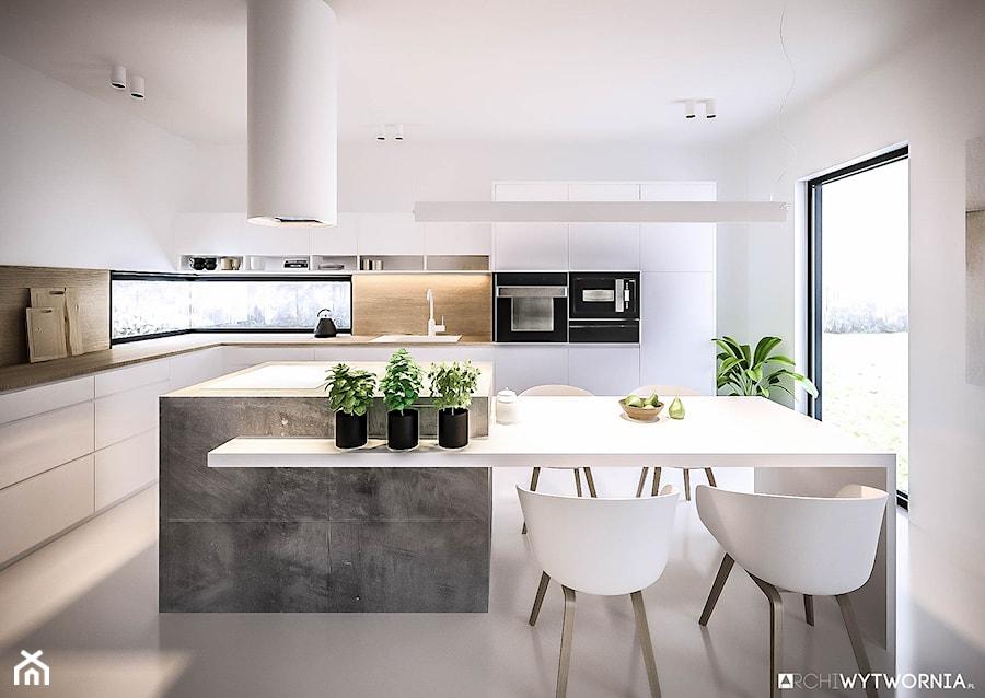 Minimalistyczna biała kuchnia - zdjęcie od ARCHIWYTWÓRNIA Tomek Pytel
