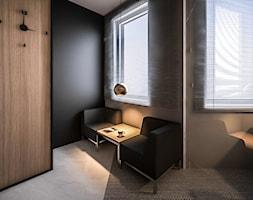 STEO - Małe czarne biuro domowe w pokoju, styl nowoczesny - zdjęcie od ARCHIWYTWÓRNIA Tomek Pytel