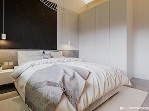 BOLONIA - Średnia biała sypialnia małżeńska, styl nowoczesny - zdjęcie od ARCHIWYTWÓRNIA Tomek Pytel