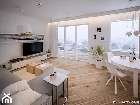 Aranżacje wnętrz - Salon: Mieszkanie w Dąbrowie Górniczej - ARCHIWYTWÓRNIA Tomek Pytel. Przeglądaj, dodawaj i zapisuj najlepsze zdjęcia, pomysły i inspiracje designerskie. W bazie mamy już prawie milion fotografii!
