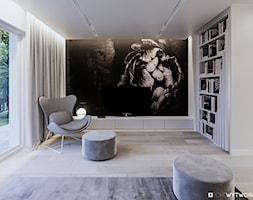 STARE ZŁOTNO - Średni szary salon, styl nowoczesny - zdjęcie od ARCHIWYTWÓRNIA Tomek Pytel
