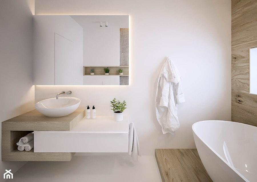 Akacjowa - Średnia łazienka w bloku bez okna, styl nowoczesny - zdjęcie od ARCHIWYTWÓRNIA Tomek ...