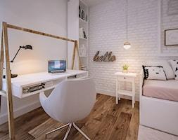 Piotra Skargi - Mały biały pokój dziecka dla chłopca dla dziewczynki dla ucznia dla nastolatka, styl skandynawski - zdjęcie od ARCHIWYTWÓRNIA Tomek Pytel