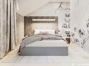STARE ZŁOTNO - Średnia sypialnia małżeńska na poddaszu, styl nowoczesny - zdjęcie od ARCHIWYTWÓRNIA Tomek Pytel