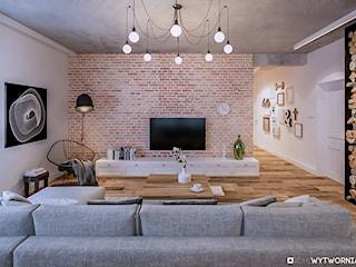 Stara cegła w nowoczesnym mieszkaniu