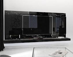 Mieszkanie Black&White - Mały biały salon, styl nowoczesny - zdjęcie od JT.ARCHITEKT - Homebook