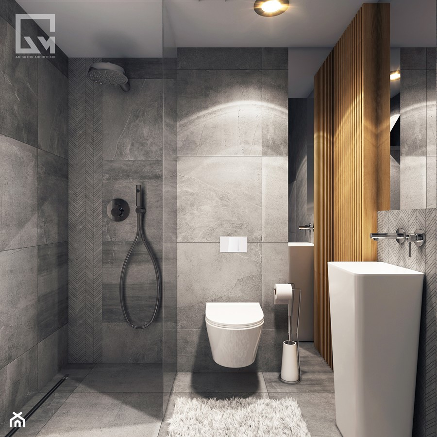 Mała łazienka Wc Zdjęcie Od Am Butor Architekci Homebook