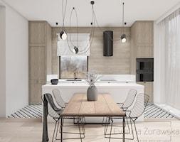 Kuchnia+w+drewnie+i+bieli+-+zdj%C4%99cie+od+Ewelina+%C5%BBurawska+Interior+Design