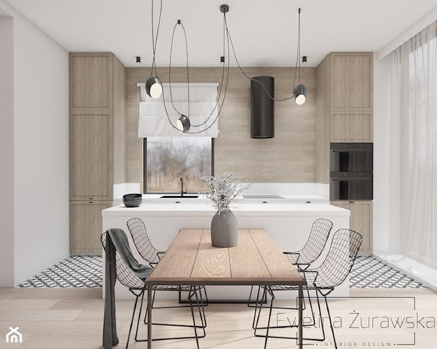 Kuchnia w drewnie i bieli - zdjęcie od Ewelina Żurawska Interior Design