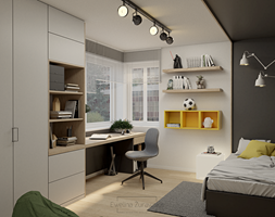 Pokój dla chłopaka - zdjęcie od Żurawska Interior - Homebook