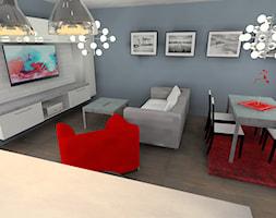 salon z aneksem kuchennym - zdjęcie od Barbara Kaniewska - Homebook