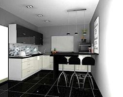 kuchnia czarno-biała - zdjęcie od Barbara Kaniewska - Homebook