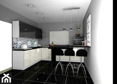 kuchnia czarno-biała - zdjęcie od Barbara Kaniewska