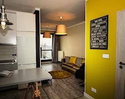 Apartament z charakterem - Średni żółty hol / przedpokój, styl industrialny - zdjęcie od http://martaczerkies.pl/